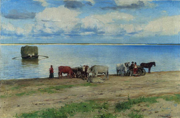 Sergey Ivanovich Svetoslavsky. The crossing of the Dnieper