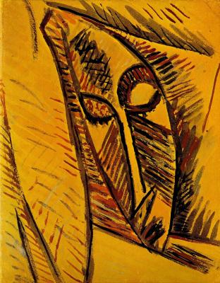 Pablo Picasso. Nude with drape. Etude