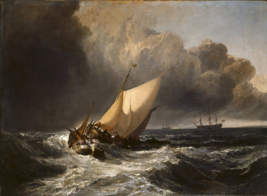 Joseph Mallord William Turner. Dutch fishing boats in a storm