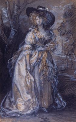 Томас Гейнсборо. Портрет женщины. Эскиз