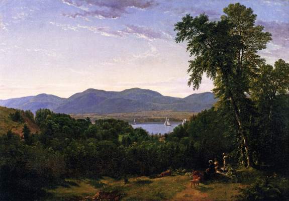 Asher Brown Durand. Lighthouse Hills on the Hudson River, opposite Newburgh