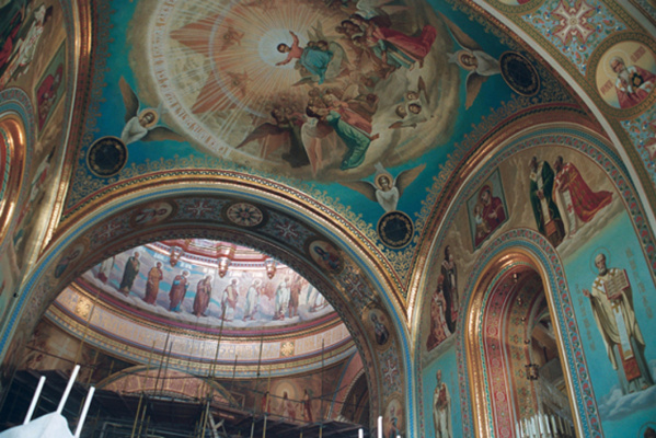 Alexander Sergeevich Krivonos. Painting the dome. Cathedral of Christ the Savior