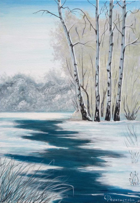 Tatyana Nikolaevna Feoktistova. Russian birch in winter