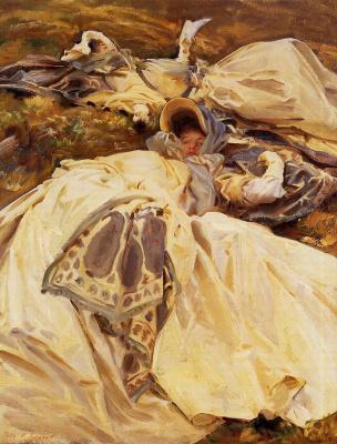John Singer Sargent. Two girls in white dresses