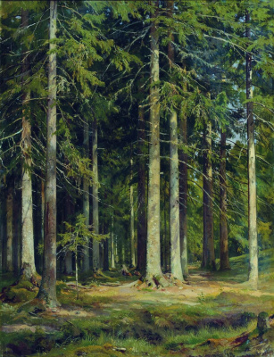 Ivan Ivanovich Shishkin. Spruce forest