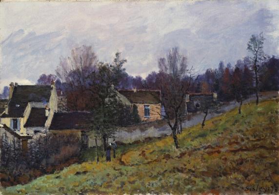 Альфред Сислей. Осень в Лувесьенне