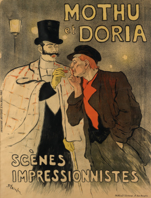 "Theophile-Alexander Steinlen. ""Motu and Doria"". Poster exhibition of the Impressionists"