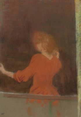 Жан Эдуар Вюйар. Женщина в красном у окна