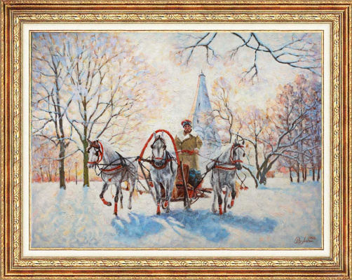 Igor Razzhivin. Winter in Kolomenskoye