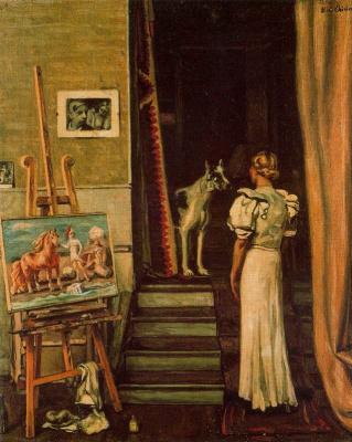 Giorgio de Chirico. Parisian artist's studio