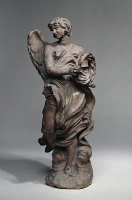 Gian Lorenzo Bernini. Angel with crown of thorns