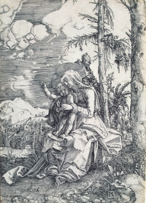 Albrecht Altdorfer. Mary with the blessing child
