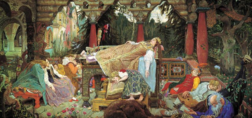 Victor Mikhailovich Vasnetsov. The sleeping Princess