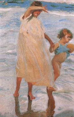 Joaquin Sorolla (Soroya). Two sisters, Valencia