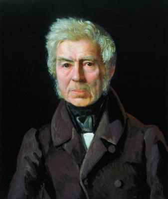 Sergey Konstantinovich Zaryanka. Portrait of the academician of painting AG Venetsianova