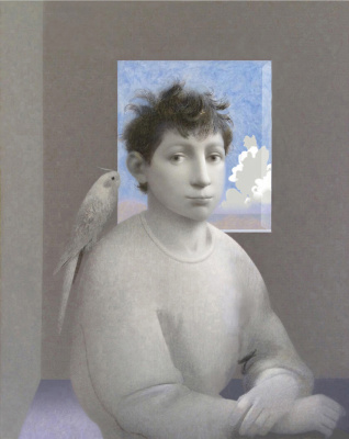 Boy with bird