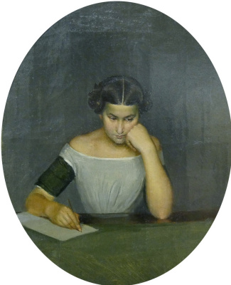 Павел Андреевич Федотов. Портрет Ольги Жданович