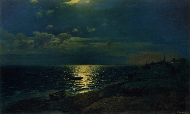 Rufin Gavriilovich Sudkovsky. Moonlit night at sea