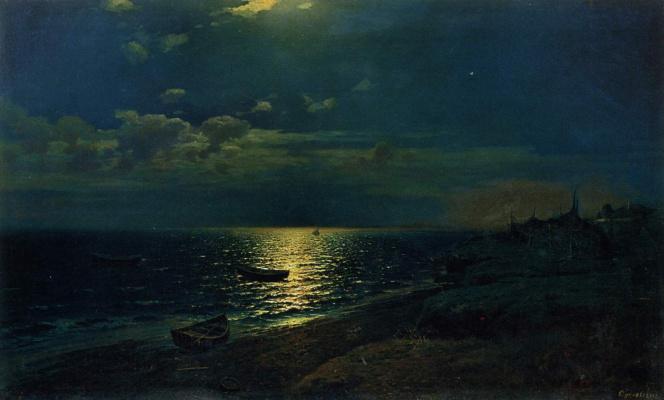 Rufin Gavriilovich Sudkovsky. Moonlit night at sea