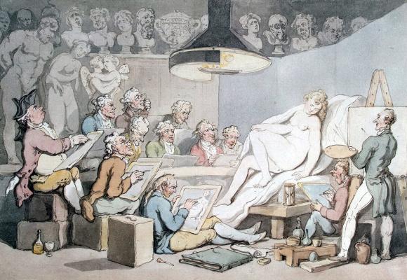 Томас Роуландсон. Натурный класс