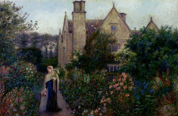 Мария Евфросина Спартали Стиллман. Long walk at Kelmscott Manor, Oxfordshire