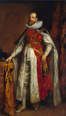 Anthony van Dyck. Portrait of Henry Danvers, Earl of Denbigh, in the attire of a knight of the Garter