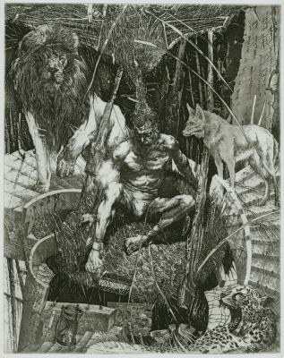 Alexander Nikolayevich Steshenko. Illustration to the divine Comedy. Three of the beast