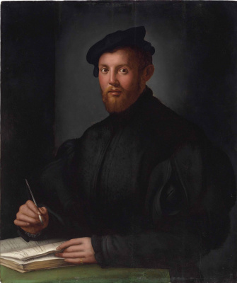 Agnolo Bronzino. Portrait of a Young Man with a Book