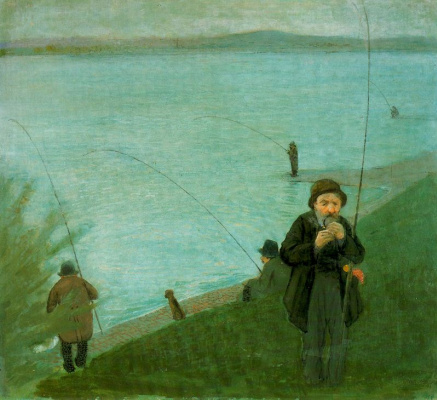 August Macke. Fishermen