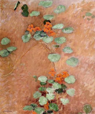 Gustave Caillebotte. Nasturtiums