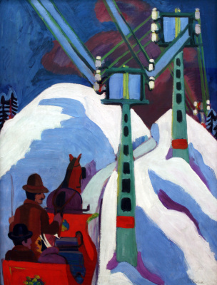 Ernst Ludwig Kirchner. Sledding