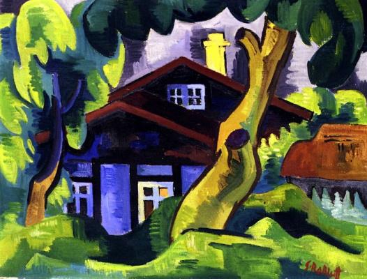 Karl Schmidt-Rottluff. House in the village