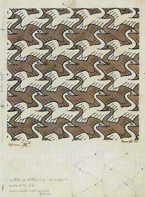 Maurits Cornelis Escher. Swan (No. 96)