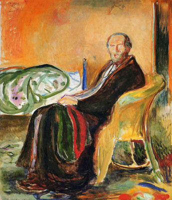 Edvard Munch. Self-portrait after Spanish influenza