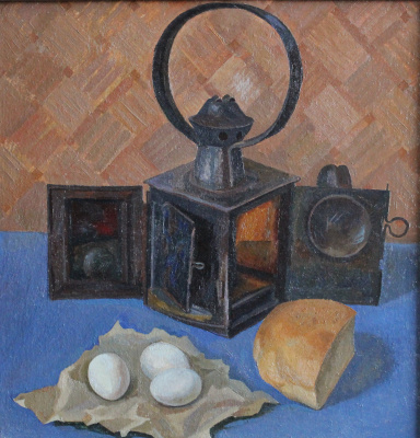 Евгений Александрович Казанцев. Still life with a lantern.