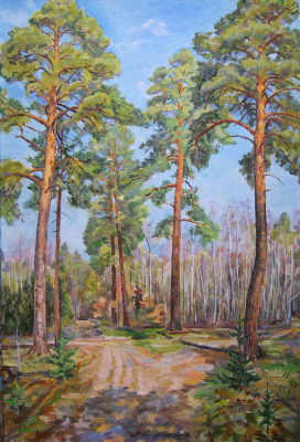 Oleg Mikhailovich Litvinenko. Forest in the spring.