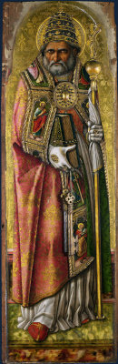 Carlo Crivelli. St. Peter. The Central altar of San Domenico in Ascoli. Fragment