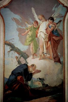 Джованни Доменико Тьеполо. Явление ангела Аврааму