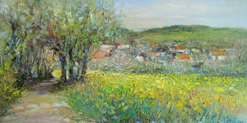 Andrei Ivanovich Boravik. Erdbeerweg -strawberry path