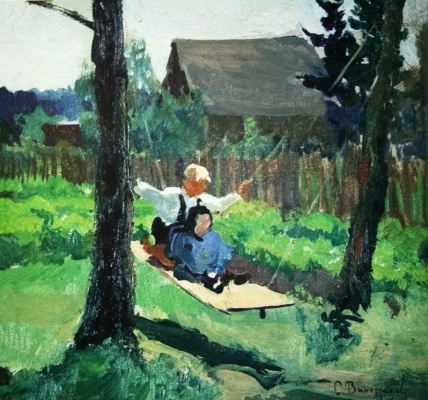 Sergey Arsenievich Vinogradov. On the swings