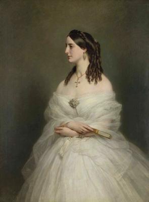 Franz Xaver Winterhalter. Portrait of Mrs. Vanderbilt