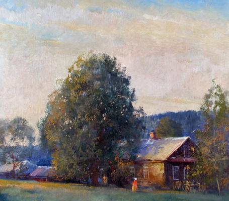 Alexander Victorovich Shevelyov. The House Of Zorin. Oil on cardboard 28,5 x 30,5 cm 2003