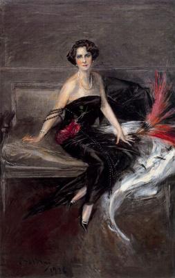 Джованни Больдини. Девушка в черном платье