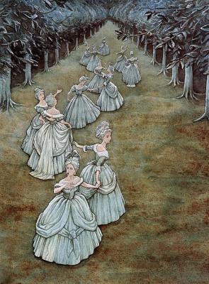 Патрик Джеймс Линч. Иллюстрация к книге 12 танцующих принцесс