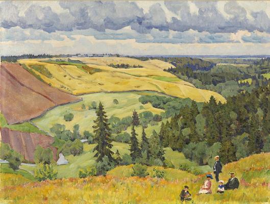 Konstantin Fedorovich Yuon. The landscape of the Novgorod province. 1910.