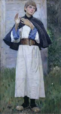 "Mikhail Vasilyevich Nesterov. Youth Of St. Sergius. Study for the painting ""Youth of St. Sergius"""