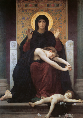William-Adolphe Bouguereau. Comforting Virgin