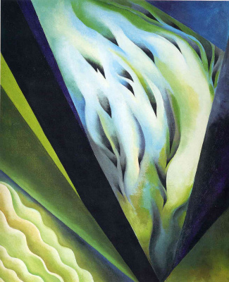 Georgia O'Keeffe. Blue and green music