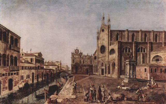 Микеле Мариески. Площадь св. Иоанна и Павла в Венеции