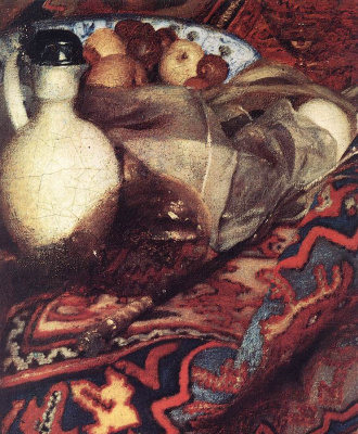 Jan Vermeer. The sleeping girl. Fragment